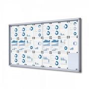 Jansen Display Interiérová vitrína 24xA4, posuvné dveře, metalová záda