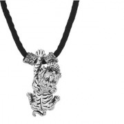 MissMister Silver Plated Antique Finish Attacking Tiger Fashion Chain Pendant Necklace Jewellery Men Women
