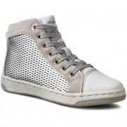 Bokacipő GEOX - J Creamy E J62L5E 0AJ22 C1007 Silver