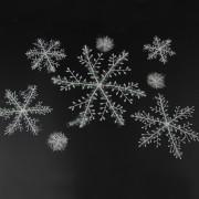 5 Piezas Copo de Nieve Colgante del Árbol de Navidad Decoración de Navidad Blancos Ornamentos de Copo de Nieve 15cm