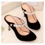 Sandalias De Tacón Fashion-cool Para Mujer- Negro