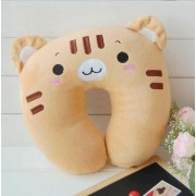 Brown Cat U Shape Feeding & Nursing Baby Neck Pillow