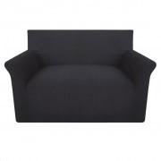 vidaXL rugalmas pamutjersey kanapé huzat antracit szín