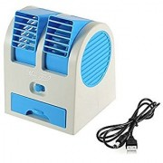 G-MTIN Mini Small Fan Cooling Portable Desktop Dual Bladeless water Air Cooler USB