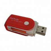 Cititor de carduri All in One USB 2.0 SD MMC RS-MMC MiniSD T-Flash MS/MS