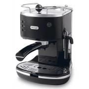 Espressor manual DeLonghi Icona ECO 311 BK, 1100W, 15 bar, Oprire automată, Sistem manual de spumare a laptelui, Negru