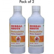 Herbal hills healthy detox drink daily use tasty 30ml daily for cleansing toxins in 500 ml pack - 2 bottles