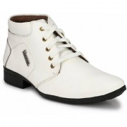 Swagonn White Stylish Elegant Formal Boots