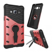 Samsung Galaxy J3 (2016) Case, J310 Case, Shock-Resistant 360 Degree Spin Tough Armor TPU+PC Combination Case with Holder(Red)