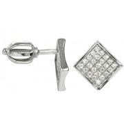Brilio Cercei din aur alb cu cristale 239001 00574 07