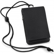 Bagbase Smartphone opbergtasje zwart met halskoord