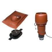 Vilpe 1003 ECO tetőventilátor szett páraelszívókhoz - téglavörös