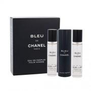 Chanel Bleu de Chanel eau de parfum Впръскване със завъртане 3x20 ml за мъже