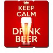 Placa Decorativa em MDF Ripado Keep Calm and Drink