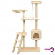 vidaXL Penjalica Grebalica za Mačke sa Stupovima od Sisala 150 cm Bež