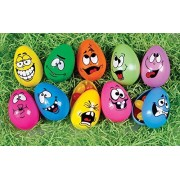 Easter Decorations Fillable Eggs Set Of 10 Crazy Funny Faces By Easter Decorations