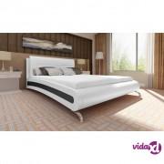 vidaXL Krevet 140 x 200 cm Umjetna Koža Bijela