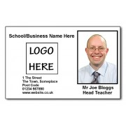 Staff Photo ID Card (Ideal for Schools or Businesses) - Basic Black