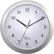 Ceas de perete radiocomandat analogic 25 cm, argintiu