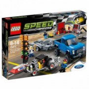 Конструктор ЛЕГО СПИЙД ШАМПИОНИ - FORD F-150 RAPTOR & FORD MODEL A HOT ROD, LEGO Speed Champions, 75875