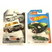 Hw Vehicle Bundle Hot Wheels New Zamac 2018 '67 Ford Mustang Coupe & 2016 Digital Circuit Shelby Cobra Concept 24/250, Green
