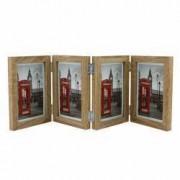 Rama foto multipla de birou Big Ben 10x15 cm cadru lemn balamale