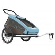 Croozer Kid Plus for 2 Click&Crooze - rimorchio per bicicletta - Blue/Brown