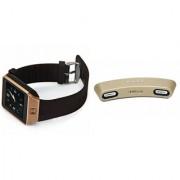 Zemini DZ09 Smart Watch and Gibox G6 Bluetooth Speaker for SONY xperia x10(DZ09 Smart Watch With 4G Sim Card Memory Card| Gibox G6 Bluetooth Speaker)