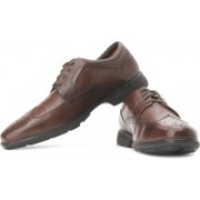 Clarks Un General Genuine Leather Lace Up Shoes For Men(Brown)