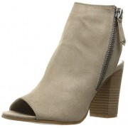 Madden Girl Women's Ninaaa Ankle Bootie, Taupe Fabric, 6 M US