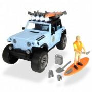 Masina Dickie Toys Fun Surfer Set cu figurina si accesorii