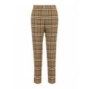J.LINDEBERG Mandalay Soft Check Trousers Kvinna Beige
