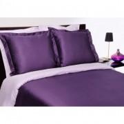 Salomé Prestige Housse de couette bicolore prune et lavande Satin de coton 120 fils/cm² -240x220