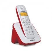 Telefone sem fio Intelbras TS 3110 Branco/Vermelho