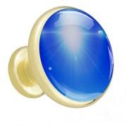 delayer Sunny Sky Pomos dorados para armarios, armarios, cajones, puertas, cajones de vidrio, perillas de vidrio, diseño de diamante antiguo