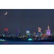 Warszawa Księżyc Sierp - plakat premium