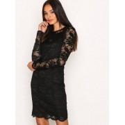 Vero Moda Vmjoy L/S Short Dress Boo Fodralklänningar Svart