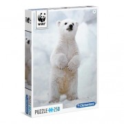 Clementoni 29744 puzzle 250 wwf orso polare polar bear