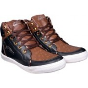 Shoe Island Popular Trending High-Ankle Length Black 'n' Brown Casual Shoes Casuals For Men(Black, Brown)