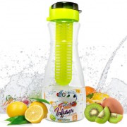 1 LITRE (32 OZ) BPA FREE FRUIT INFUSER WATER BOTTLE WITH FLIP TOP LID AND FULL LENGTH INFUSION ROD IDEAL FOR HOME ETC.