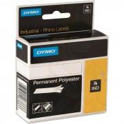 Dymo Rhino Tejp Permanent polyester 12mm Svart på vitt