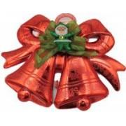 Decoratiune craciun ornament pentru geam 27/20 cm clopotei rosu