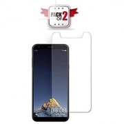 ECellStreet Pack of 2 Tempered Glass Screenguard for Karbonn A6 Turbo Mobile Screen Guard Scratch Protector
