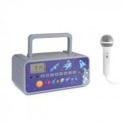 Auna Kidsbox Space CD Boombox CD-Player BT UKW USB LED-Display grau