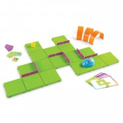 Set STEM Robotul Soricel Learning Resources, 30 de carduri, 3 piese tunel, 5 - 9 ani