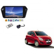 7 Inch Full HD Bluetooth LED Video Monitor Screen with USB Bluetooth + 8 LED Reverse Parking Camera For Maruti Suzuki Ritz