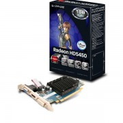 Placa video SAPPHIRE 512 MB; GDDR3; 64 bit; PCI-E 16x; AMD Radeon HD 5450; VGA; DVI; HDMI