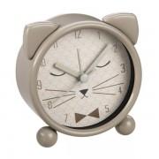 Maisons du monde Despertador gato de metal gris