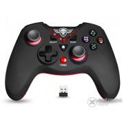 Spirit of Gamer Gamepad wireless - XGP WIRELESS Red compatibil PC si PS3, negru-rosu