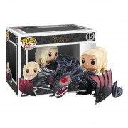 Danaerys y drogon Funko pop Game of thrones Dragon madre de dragones serie juego de tronos GOT